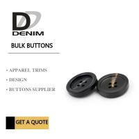 Best Plastic Resin 4 Hole Plastic Button For Khaki Double - Breasted Trench Coat wholesale