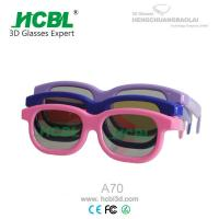 China Adult Circular polarized 3d Glasses with ABS Frame 0.26 / 0.4 mm TAC Lens wholesale