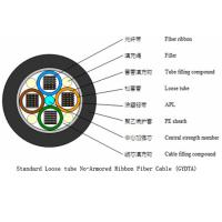 Best Standard Loose Tube Outdoor Fiber Cable , Black Outdoor Single Mode Fiber Optic Cable wholesale