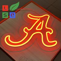 Best Longlife Neon Letter Sign LED Shop Display Red 3D Custom Signage With Clear Back wholesale
