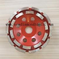 China 4 inch diamond cup grinding wheel for concrete on sale