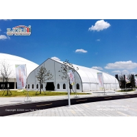 China High Quality PVC TFS curve large aluminium and PVC marquee tent for football field for outdoor sports on sale