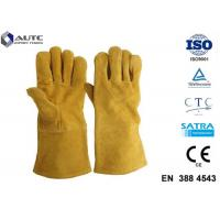 Best Leather Heat Resistant PPE Safety Gloves Soft High Dexterity For Welding Oven Fireplace wholesale