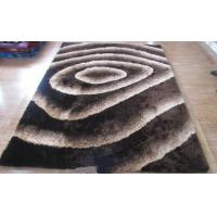 China 3d Votex Polyeste Shaggy high and low pile Carpet Floor Rug Classic White and Black on sale