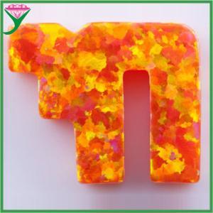 Best wholesale price OP31 chai shape man-made mexico orange mystic opal wholesale