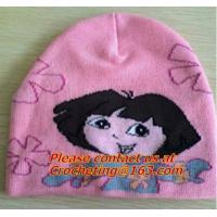 Best 100% cotton, Oversize Knit Cap for children, pictures of knit caps for children, knit hats wholesale