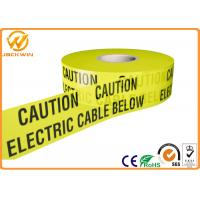 Best Yellow and Black Warning Stripes for Safety Warning Caution Electric Cable Below wholesale
