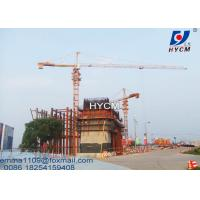 Best TC6515 Tower Crane Electric Power Cable 10T Load 65m Boom Length wholesale