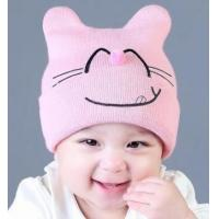 Best Autumn and winter baby hood cute expression hair ball nose knit hat winter warm hat wholesale