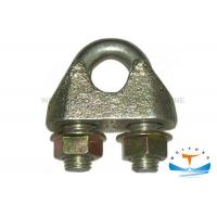 Best DIN1142 Marine Hardware Drop Forged Wire Rope Clamp Electro Galvanized wholesale