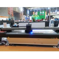 Best 2.5m*1.3m UV Flatbed Printer  with double DX7 heads for rigid flat material glass wood metal leather cardboard wholesale