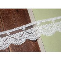 Buy cheap Bridal Embroidered Lace Trim Cotton Nylon Mesh Tulle AZO Free 5.5 CM Width from wholesalers