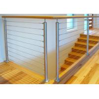 Best Durable Stainless Steel Wire Railing , Stainless Steel Wire Balustrade Easy Maintenance wholesale