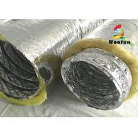 Best Multi Layer Aluminum HVAC Duct Insulation Wrap , Ventilation Fire Resistant Flexible Ducting wholesale