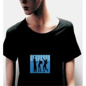 China El flashing t-shirt/el tshirt/EL Glow T-shirt/EL Music Flashing T-shirt/Music T-shirt/EL Tshirt on sale