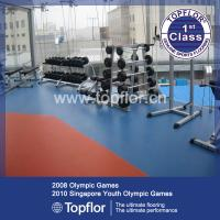 China Wearable commercial flooring rubber mat for training Center on sale