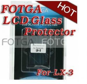 Best Pro Optical Digital Camera LCD Screen FOTGA Glass Protector Cover for Panasonic LX-3 wholesale