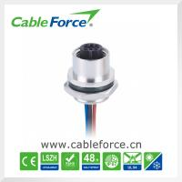 Buy cheap IP67 Female 5pin B-Code M12 panel mount connector Rear mounting With PVC Wires product