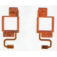 China Multi layered FR4 Polyimide Rigid Flex PCB Board with OSP ENIG for cell phone on sale