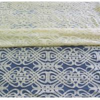 China Voile Yellow Cotton Nylon Lace Fabric Eco-friendly Dyeing For Curtain Decoration CY-DK0035 on sale