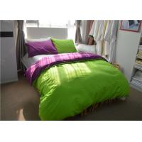Best Green 100% Dyeing Cotton 200TC Student Dorm Bed Sheets For Children / Adult wholesale