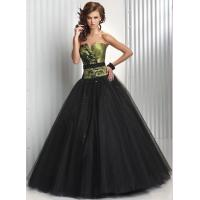 China Empire V Neckline Long Wormens Party Dresses , Tulle Evening Gown on sale