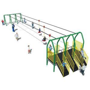 Best ISO9001 Preschool Playground Equipment , Kindergarten Aerial Zip Line Equipment wholesale