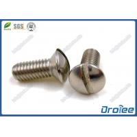 Best A4 / 316 Stainless Steel Slotted Oval Head Machine Screws wholesale