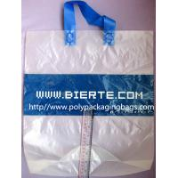 China Biodegradable Personalized Plastic Grocery Bags With Loop Handle on sale
