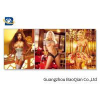 China 3D Flipped Wall Decorative Photos With Sexy Naked Beautiful Girl on sale