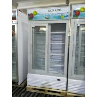 Best Vertical Frost Free Sliding Door Display Beverage Refrigerator / Glass Door Chiller wholesale
