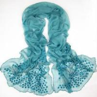 China 2012 Lady Embroider Scarf with Jewellery (JJ15) on sale