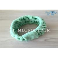 China Green Color Microfiber Towel Fabric Chasp Hair Band For Bath Or Washing Face Using on sale