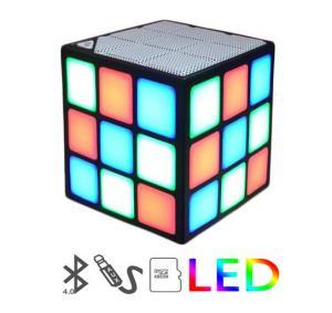 China Mini Magic Cube Colorful Wireless Portable Bluetooth Speaker LED Flash Light with TF Card Handsfree on sale