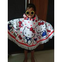 China Factory Small MOQ custom print lovely cartoon kids towel poncho beach towel poncho on sale