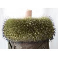 China Extra Large Raccoon Furry Necks Collars ,  Warm Dyed Winter Coat Replacement Fur Collar  on sale