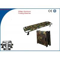 China Portable Aluminum Folding Stretcher , Military Stretcher For Battlefield Rescue on sale