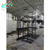Best Double Base Aluminum Wall Support LED Screen Truss Module Size 1000*1000mm wholesale