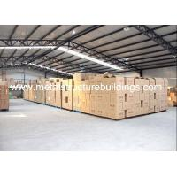 China Efficient Logistics Warehouse Large Metal Garage Buildings By Steel Frame on sale