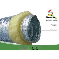 Best Fireproof 20 Rigid Hvac Duct Insulation Wrap Aluminum Foil Stretchable Easy Installation wholesale
