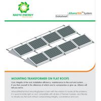 China Rotate Maintenance Flat Roof Solar Mounting System Solar Rooftop Racking Systems on sale