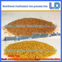 China Instant Rice/Nutritional Rice Food Processing line on sale