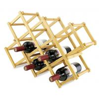 China Triangle shaped high quality bamboo wine bottle rack for 12 bottles on sale