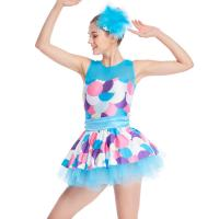 Buy cheap Bubble Prints Competition Dance Wear Sleeveless Bodice Knee Length jazz dance from wholesalers