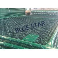 Best Green / Balck Wire Mesh Fencing  PVC Coated 0.5 - 6m Width Chain Link Fence wholesale