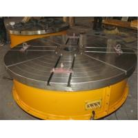 China Flange Plate Floor Turning Table Stepless Frequency Adjustment Welding Rotary Table With Round Table Standing 15 Tons on sale