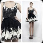 Best Black Zuhair Murad Lace Short Evening Party Dresses , Mini Cocktail Party Gowns wholesale