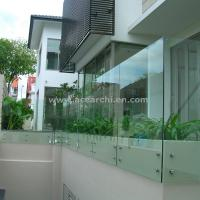 China Standoff Widely Used Spigot Glass Railing for Balcony / Stairs on sale