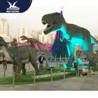 China Outdside Theme Park Realistic Dinosaur Statues / Life Like Garden Animals on sale