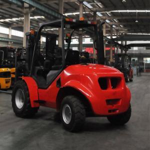Best 4 Wheel Drive Stand Up Forklift , Narrow Aisle Forklift Rough Terrain Lift Truck wholesale